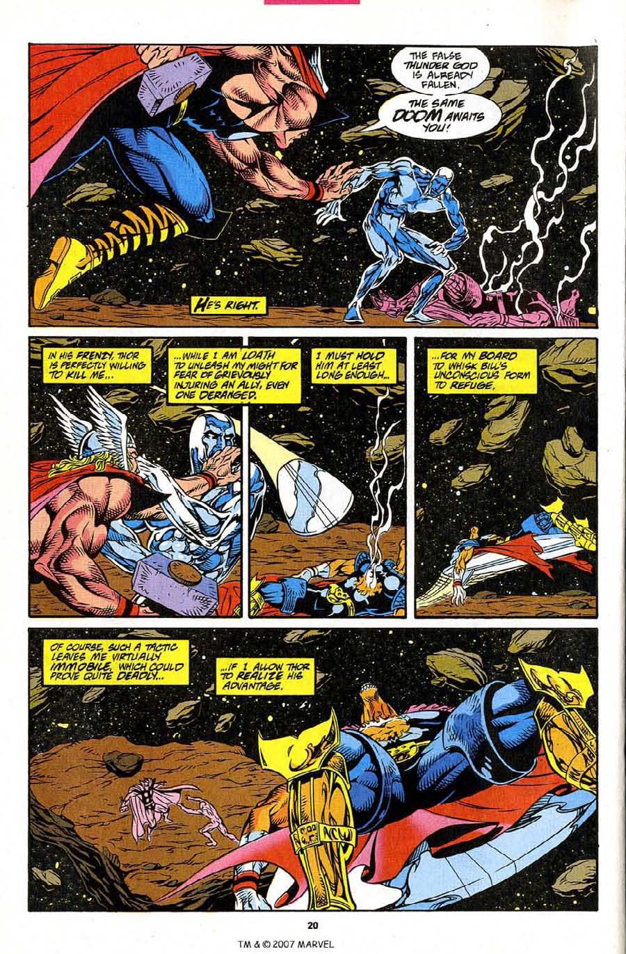 Read online Silver Surfer (1987) comic -  Issue #86 - 22