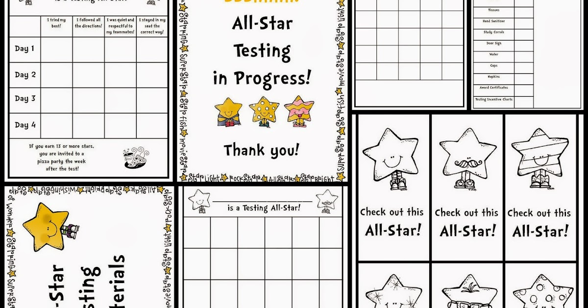 Classroom Freebies: All-Star Testing Positive Packet