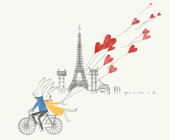 Le Saint-Valentin - nagłówek - Francuski przy kawie