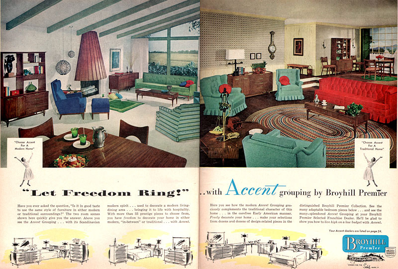 Vintage Brochure for Broyhill Premier Furniture Mid-Century - advertisement brochure
