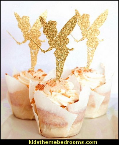 Fairy Mini Glitter Cake Decoration Picks