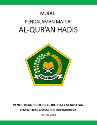Modul PPG Kemenag Al-Qur'an Hadits 2018