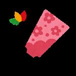 縁起物のイラストマーク(羽子板)