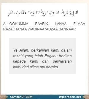 Lafadz doa ketika mau makan