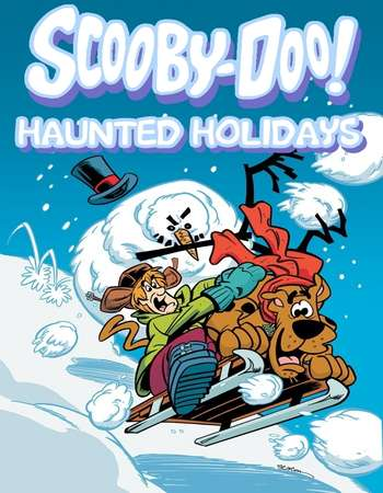 Poster Of Scooby-Doo! Haunted Holidays 2012 Dual Audio 720p HDTV [Hindi - English] Free Download Watch Online downloadhub.net