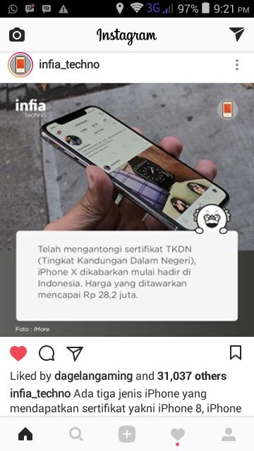 Harga iPhone X di Indonesia Rp 28juta, Ora Umum!