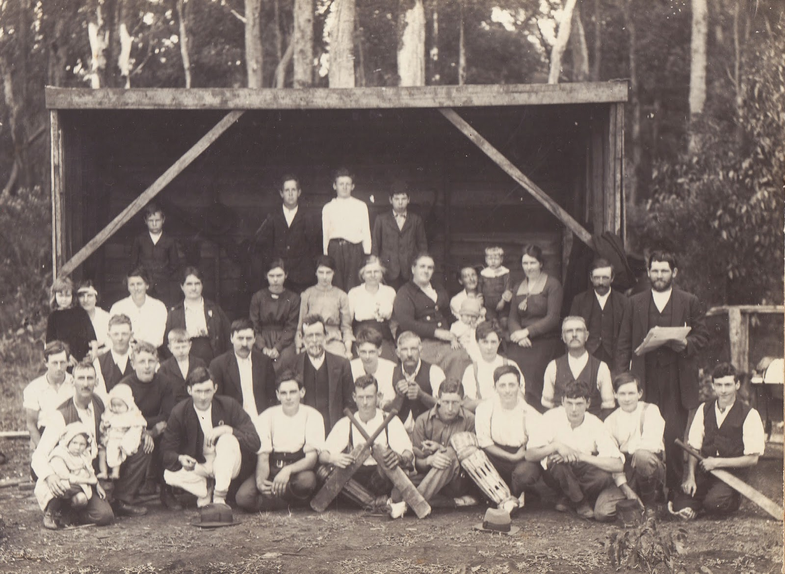 The Wandin Saga Pioneers Of Wandins Silvan White Long South Cricket Team Supporters C1918 At Upper Fernydale Oval Now In Reservoir Reserve Opposite Yarra Pipeline Enrty