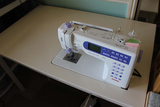 Ikea sewing table with Janome 6500