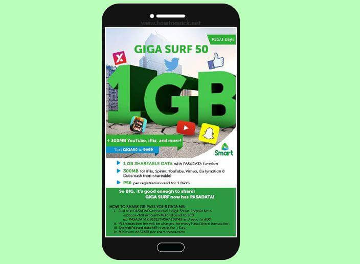 How to Use Smart PasaData to Share MB's of Gigasurf Promo