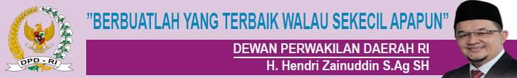 Hendri Zainuddin, Anggota Dewan Perwakilan Daerah Republik Indonesia (DPD RI) dari Provinsi Sumatera Selatan