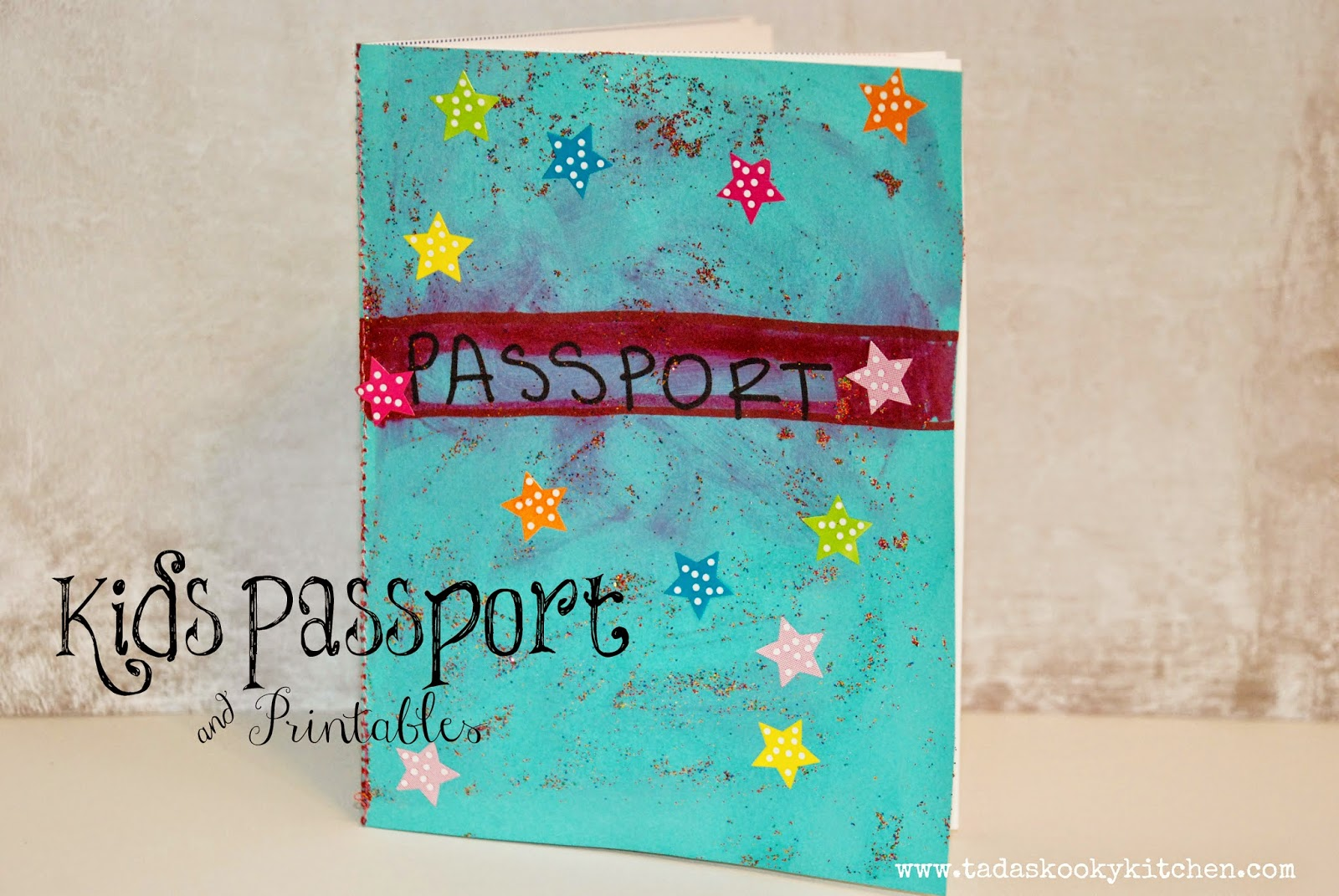 This is a picture of Printable Passport for Kids inside pdf