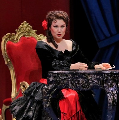 ARTS IN ACTION: Spanish mezzo-soprano SILVIA TRO SANTAFÉ, who will sing the title rôle in Washington Concert Opera's performance of Gioachino Rossini's ZELMIRA on 5 April 2019, as Rosina in IL BARBIERE DI SIVIGLIA at San Diego Opera in 2012 [Photograph by Ken Howard © by San Diego Opera]