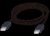 USB端子の付いたケーブルのイラスト