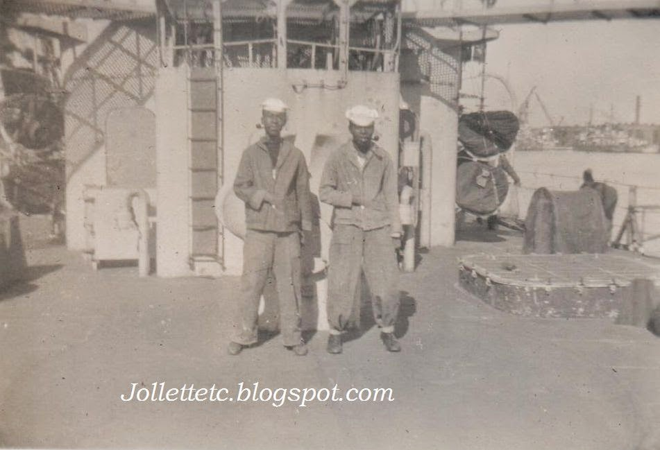 Unknown African-American sailors on USCGC Eastwind 1946 or 47  http://jollettetc.blogspot.com