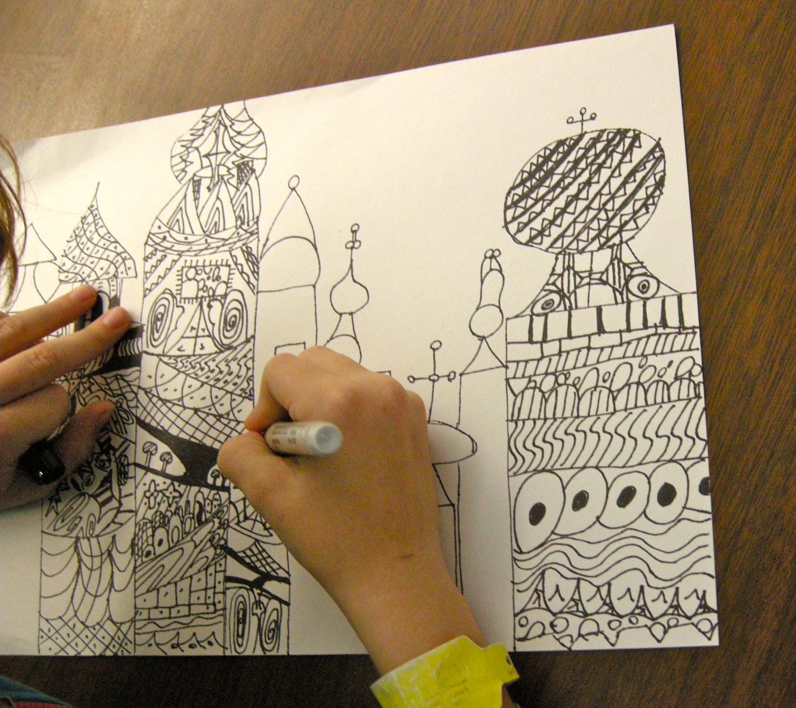 Zilker Elementary Art Class 4th Grade Russian Architecture