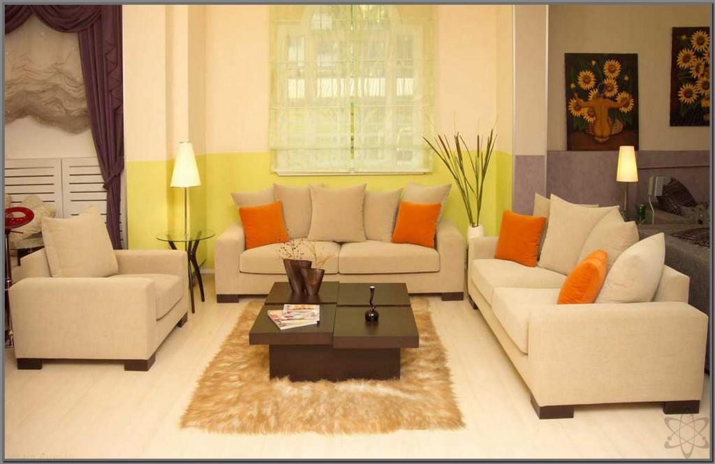 Ruang Tamu Minimalis Dengan Set Sofa Putih Dan Meja Kayu Wajib Baca