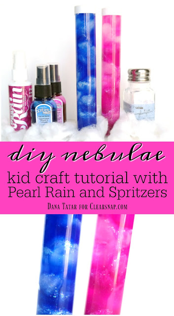 DIY Nebulae Kids Craft Tutorial by Dana Tatar for Clearsnap