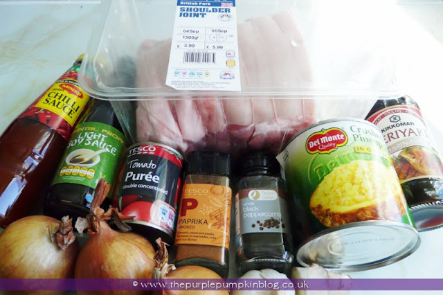 Hawaiian Pulled Pork Slow Cooker/Crock Pot Recipe at The Purple Pumpkin Blog