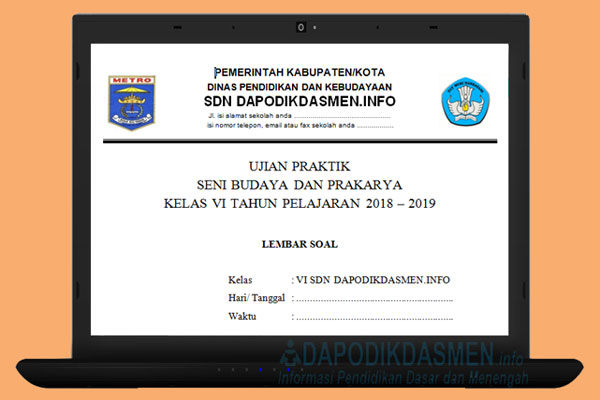Soal Ujian Praktik SBdP SD MI Tahun Pelajaran 2018/2019