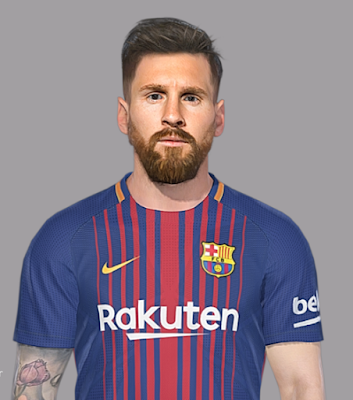 PES 2018 Faces by SeanFede ( Leo Messi )