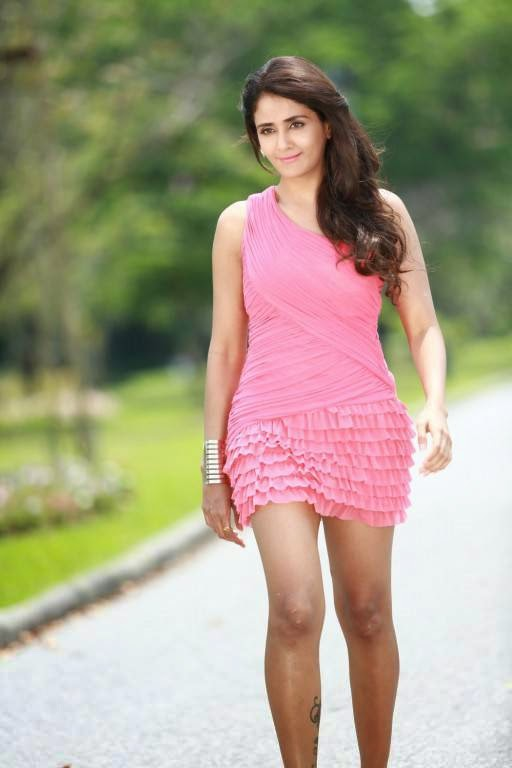 Parul Yadav Legs Show Photoshoot In Pink Dress