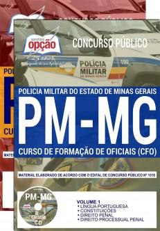 Apostilas PMMG CFO 2019 - Curso de Formação de Oficiais da Polícia Militar de Minas Gerais.