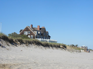 Large house on a sand dune