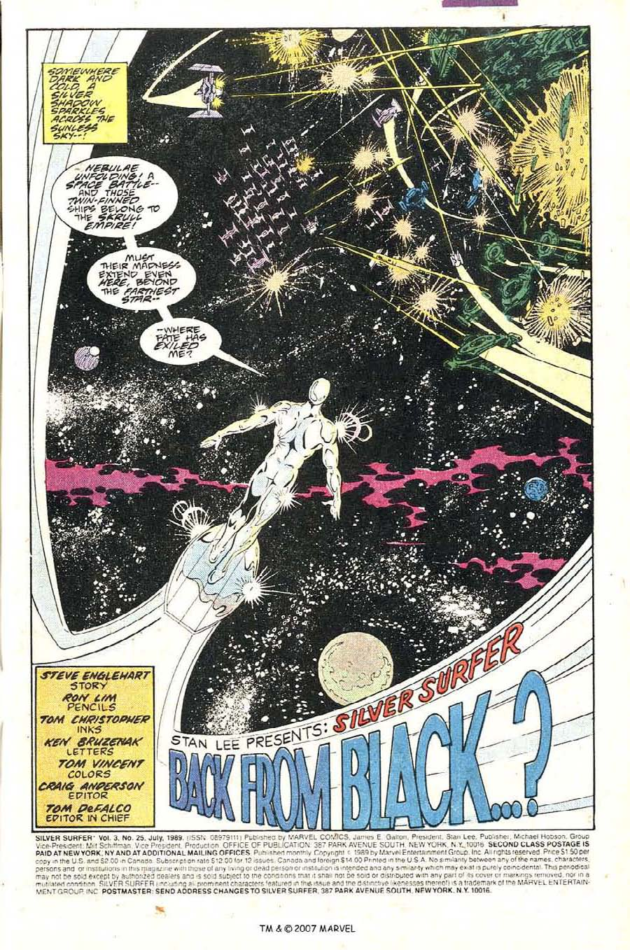 Read online Silver Surfer (1987) comic -  Issue #25 - 3