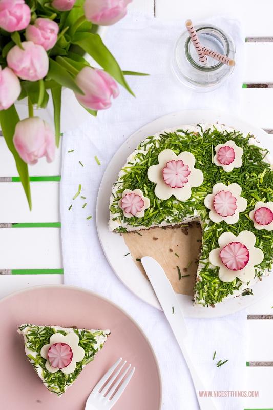 Herzhafter No Bake Cheesecake Frischkäse Torte