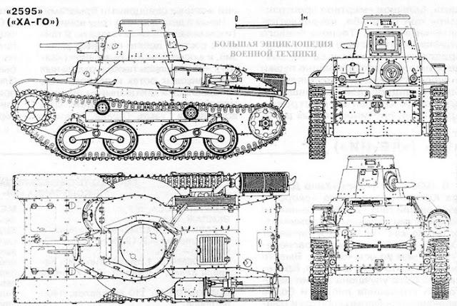 Общий вид легкого танка «2595» («ХА-ГО»)