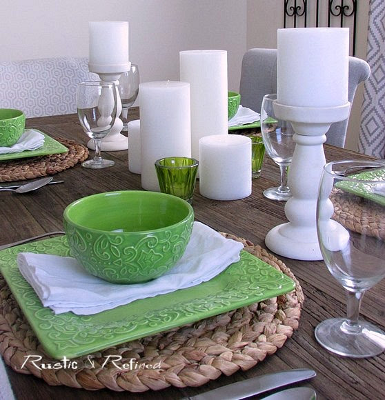 Dining table centerpiece idea for summer