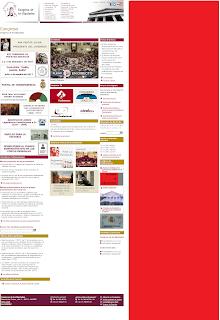web del congreso de los diputados escorandose por su diseño a la derecha