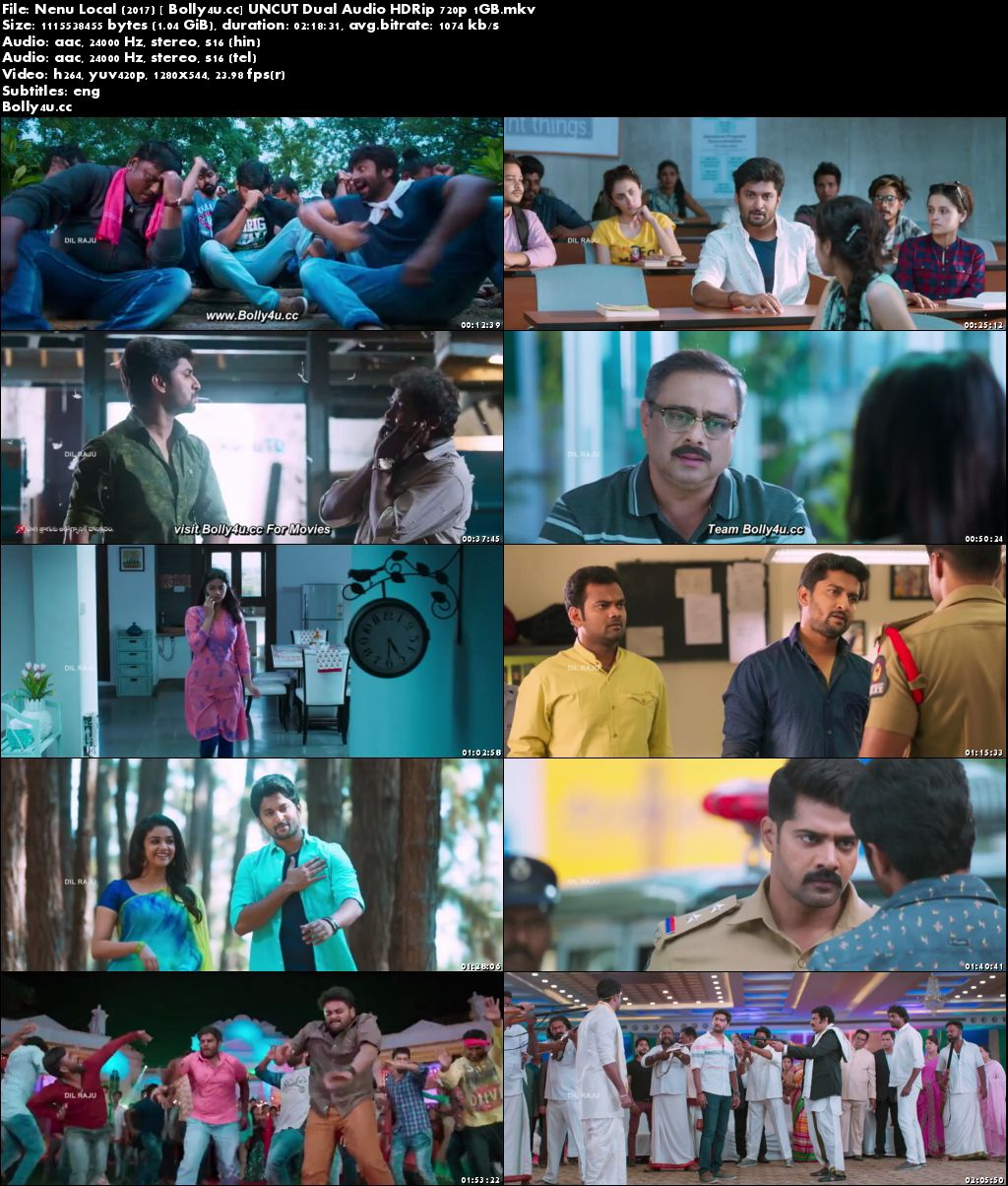Nenu Local 2017 UNCUT HDRip 400MB Hindi Dual Audio 480p Download