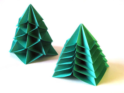 Origami, Bialbero di Natale - Double Christmas tree by Francesco Guarnieri