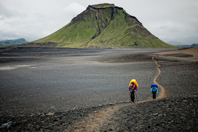 Hiking in Iceland. The beautiful Thórsmörk