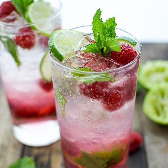 RASPBERRY MOJITO #vodka #drinks