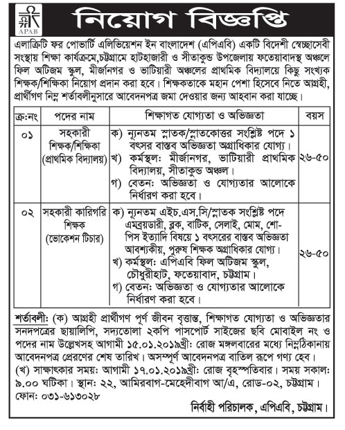 Alacrity for Poverty Alleviation in Bangladesh ((APAB) Job Circular 2019