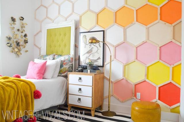 Красочный интерьер детской комнаты для девочки подростка