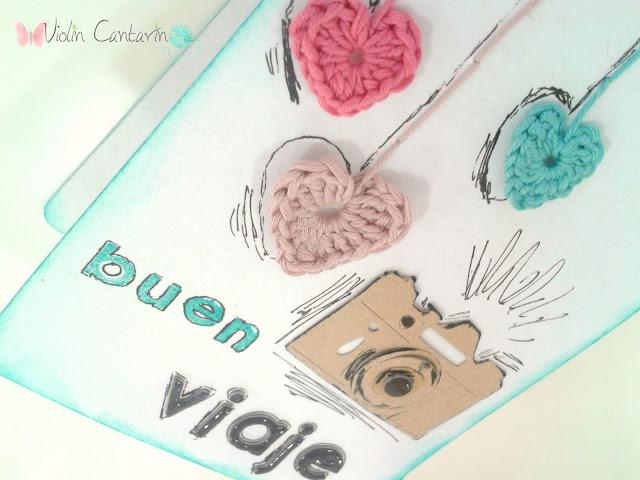 tarjeta, scrapbppk, scrap, patrón, pattern, corazones, ganchillo, crochet, violín cantarín, violin cantarin