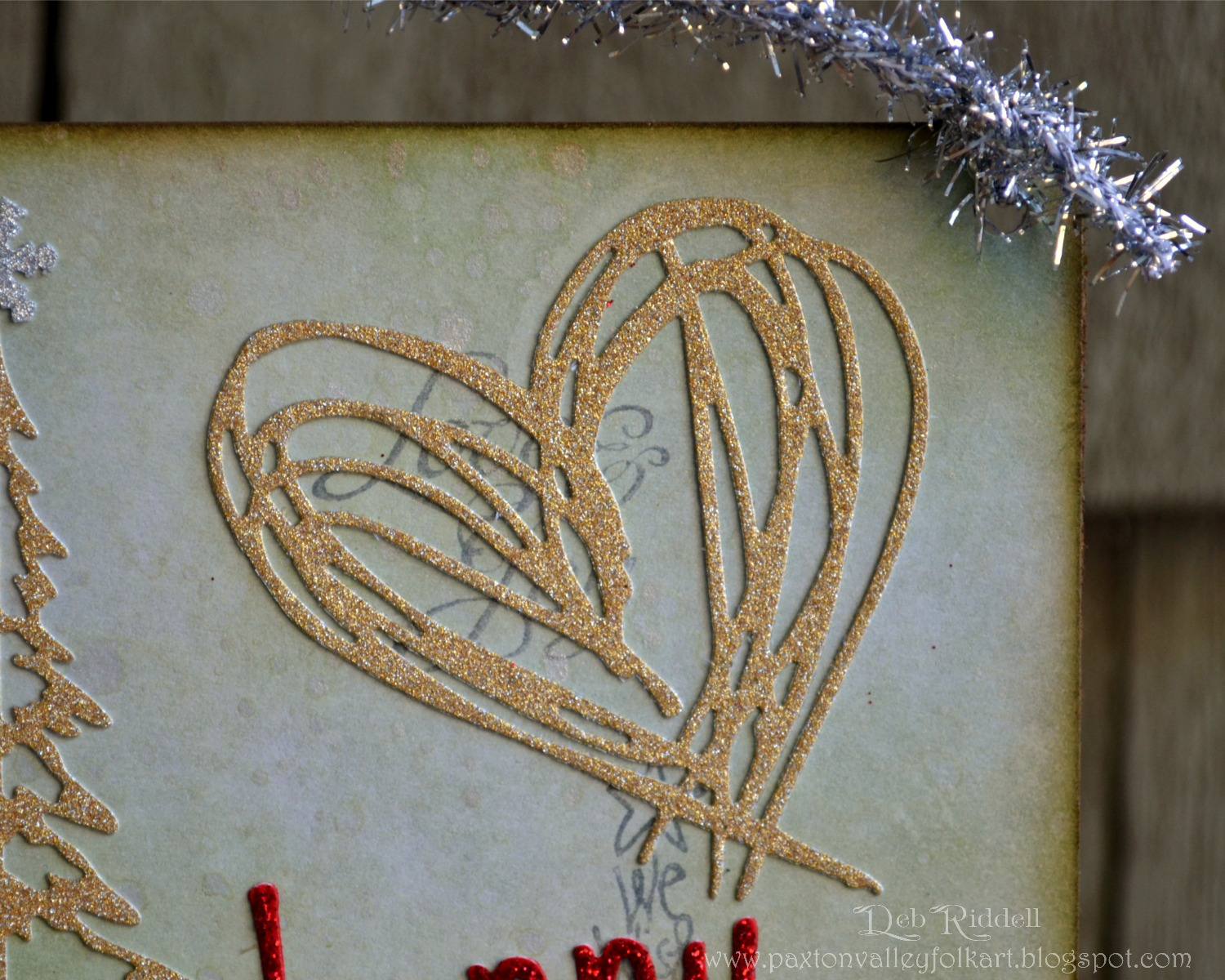Paxton Valley Folk Art Glitter And Scribbles