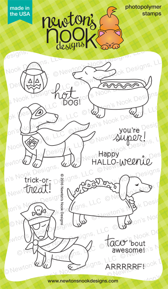 Dress Up Doxies | Dachshund Stamp set by Newton's Nook Designs #newtonsnook