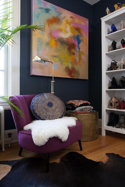 Design Fixation Navy Blue Purple Home Decor Inspiration
