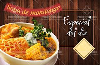 plantilla banner menu comida restaurante sopa de mondongo social media