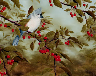 paisajes-de-la-vida-silvestre-cuadros-con-aves pinturas-aves-paisajes