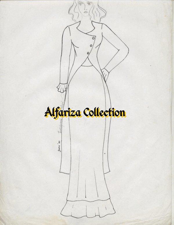 model blus cardigan desain busana wanita