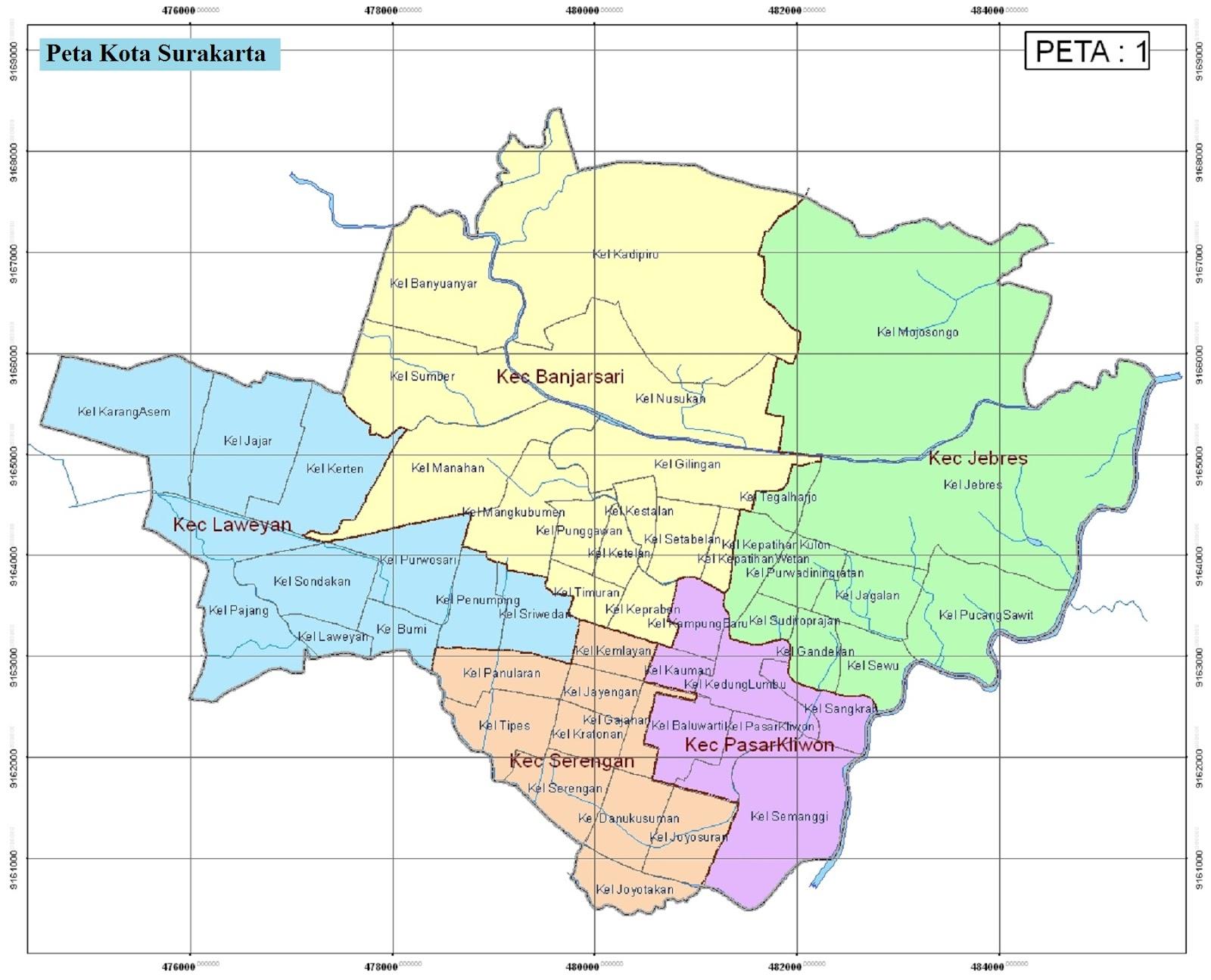 Peta Kota Surakarta