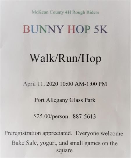 "4-11 4H Rough Riders ""Bunny Hop 5K"""