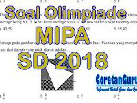 Soal Olimpiade MIPA SD 2018 Terbaru 100 Soal Pilihan Ganda