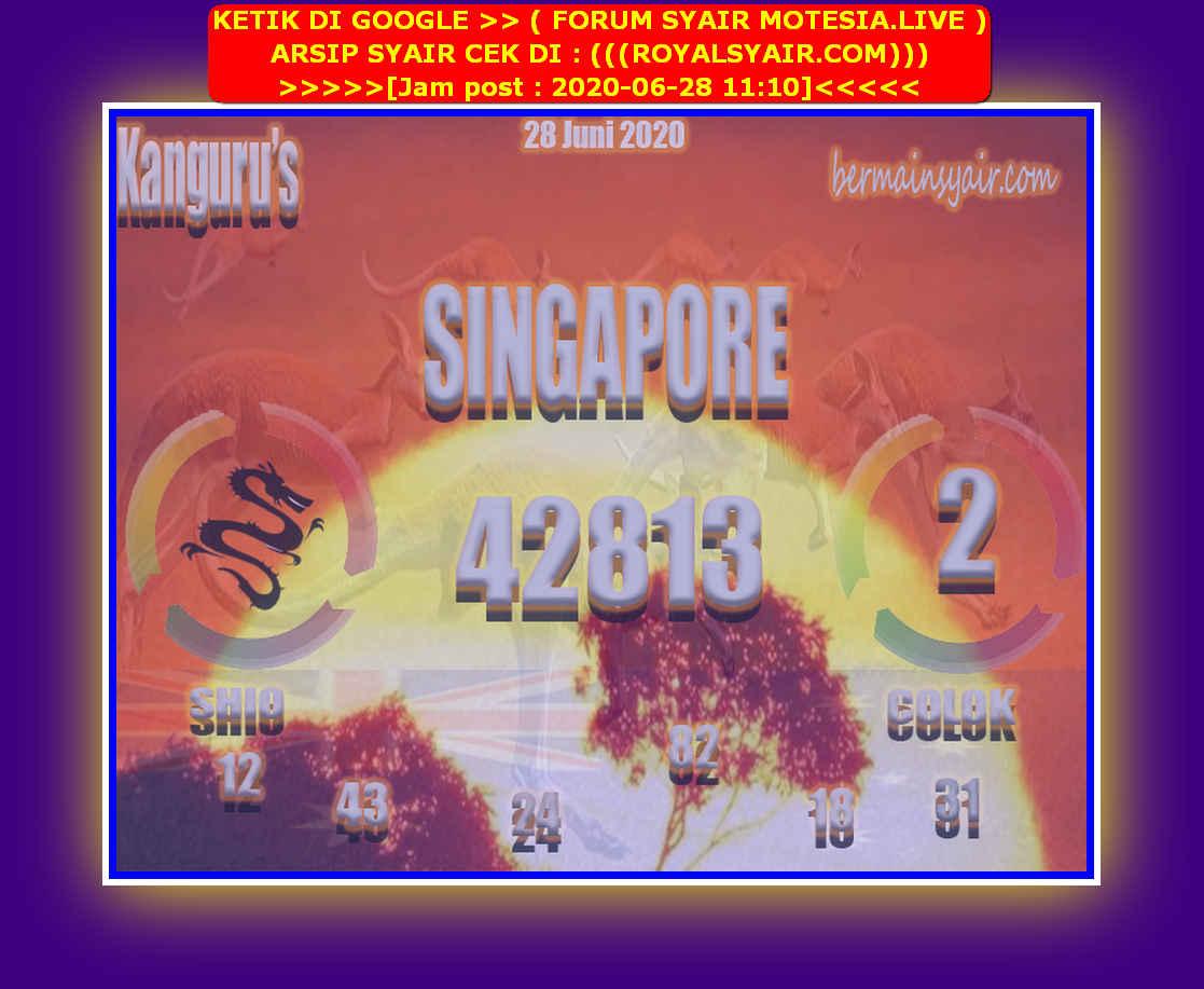 Kode syair Singapore Minggu 28 Juni 2020 97