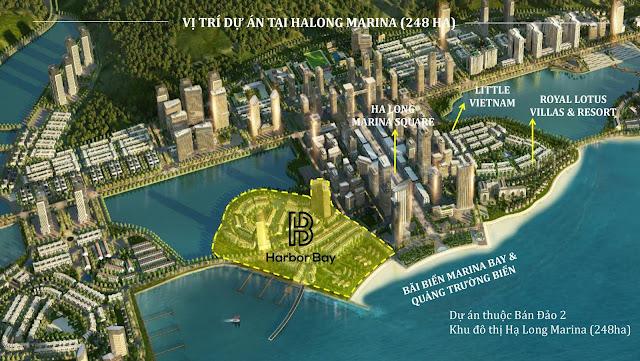 Vị trí dự án Harbor Bay Hạ Long